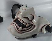 Kabuki Warrior Paintball mask / Prop Mask Handmade in Thailand ( Half Cover)