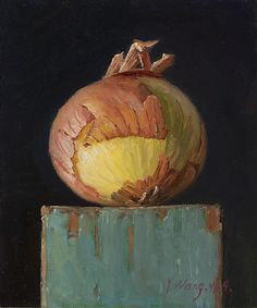 Wang Fine Art: an onion, small work of art original daily painting, a painting a day