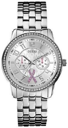 Guess U0032L1 Silver Tone Dial Stainless Steel Bracelet Women Watch New