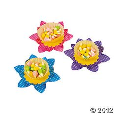Spring Flower Candy Cups- make with Stampin' Up! flower dies