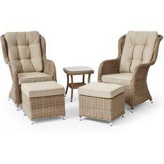 Duo sett Lotus lounge 2+2+1 sand plantasjen 4995,- Outdoor Chairs, Outdoor Furniture Sets, Outdoor Decor, Lotus, Lounge, Beige, Balcony, Home Decor, Tv
