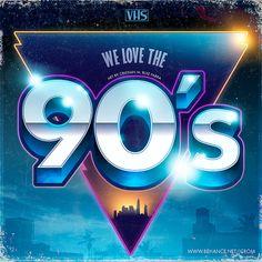 We love the 90's by Cristian M. Ruiz Parra, via Behance