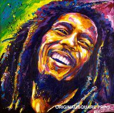 Bob Marley - Original Painting Print. $24.99, via Etsy.