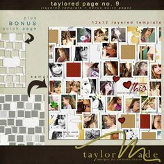 Digital Scrapbook Templates, Taylored Pages No. 09 by TaylorMade Designs