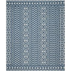 Shop for Safavieh Hand-woven Dhurries Dark Blue/ Ivory Wool Rug (8' x 10'). Get free shipping at Overstock.com - Your Online Home Decor Outlet Store! Get 5% in rewards with Club O!