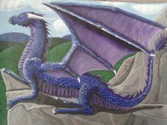 dragon acrylic dragon by Diana Barber 2012