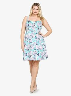 9835f1a58096f A floral print blooms across this made-for-the-sun tank dress. For a sexy  edge that separates it from the crowd