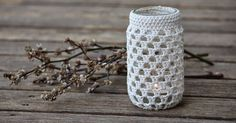 Upcycle your jars into beautiful tea light holders, vases, pencil/tool/cutlery holders with basic crochet stitches.         After selli...