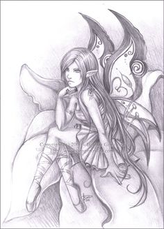 Bored and frustated ( *sigh*).Nothing to say about this. I like drawing fairies. xD 2b pencil. 3 hours