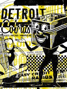 Image of The Detroit Cobras Concert Poster, Minneapolis, MN