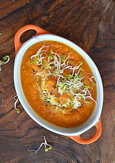Zupa z pieczonej marchewki #gryz #MagazynGRYZ