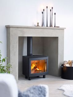 Part of a range of freestanding and inset stoves with a large landscape window showing a large flame picture. - Part of a range of freestanding and inset stoves with a large landscape window showing a large flame picture. Wood Burner Fireplace, Wood Burning Fireplace Inserts, Open Fireplace, Fireplace Ideas, Tiled Fireplace, Mantel Ideas, Log Burner Living Room, Living Room With Fireplace, Living Rooms