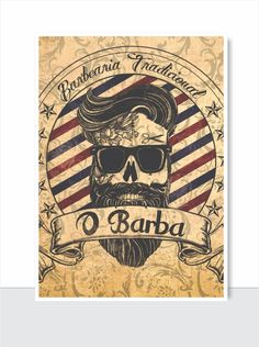 placa decorativa vintage - o barba