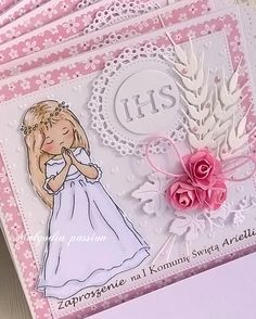 First Communion, Baby Cards, Quilling, Diy Crafts, Handmade, Ice, Passion, Aprons, Printables