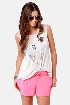 BB Dakota by Jack Jilliane Shorts - Neon Pink Shorts - $46.00