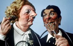 "Power couple: Thatcher and Reagan, two of Law's most famous and recognisable creations from ""Spitting Image""."