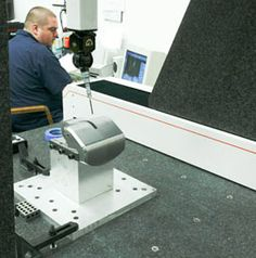 Coordinate Measuring Machine (CMM) First Article Inspection of a complex, finish-machined actuator fin housing.