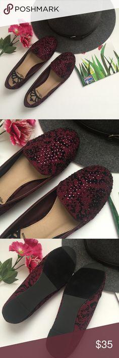 Burgundy studded loaf Studded loaf never wear NWot Shoes Flats & Loafers