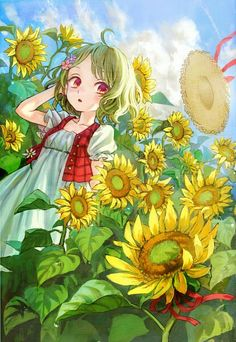 Manga Anime, Anime Chibi, Manga Girl, Anime Art Girl, Kawaii Anime, Anime Guys, Anime Flower, Anime Summer, Pretty Anime Girl