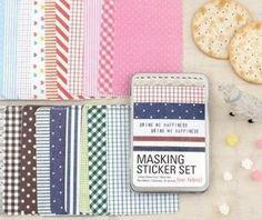 French Masking Sticker Set (refill set) von Fabric In Wonderland auf DaWanda.com