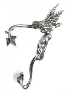 """""""Whispering Fairy"""" Ear Wrap by Alchemy of England (Steel) #inked #inkedshop #inkedmagazine #earrings #earwrap"""