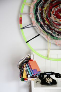 Mother Magazine | May 2014  hula hoop weaving using ace & Jig fabric scraps