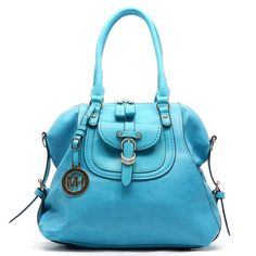 Fashion Satchel Handbag Fashion Satchel Handbag in Blue Color.  Faux leather with gold-tone hardware and detachable shoulder strap. Bags Satchels