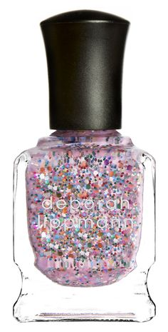 Pink confetti nail polish. The best!