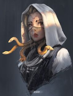 ArtStation - Medusa, _Z eD_You can find Fantasy characters and more on our website.ArtStation - Medusa, _Z eD_ Fantasy Girl, Dark Fantasy Art, Fantasy Artwork, Fantasy Drawings, Fantasy Names, Fantasy Princess, Dream Fantasy, Fantasy Forest, Fantasy Castle