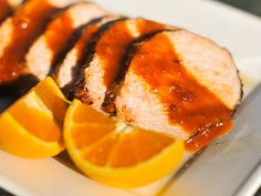 Grilled Orange-Chipotle Pork Loin (replace sugar with honey or skip)