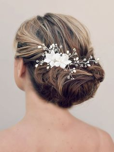 Hair Comes the Bride - Romantic Bridal Flower Hair Comb ~ Radiance, $89.00 (http://www.haircomesthebride.com/romantic-bridal-flower-hair-comb-radiance/)