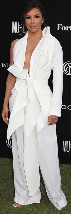OutfitID – Page 10 – The user generated fashion dictionary of what celebrities wore and where to get it. Jennifer Hudson, Jennifer Connelly, Kate Hudson, Eva Longoria Style, Fashion Dictionary, Kristin Cavallari, Rachel Bilson, Lily Aldridge, White Jumpsuit