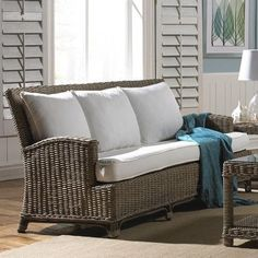 Panama Jack Sunroom Exuma Sofa with Cushion Upholstery: Blox Slate