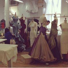 In the Zac Posen atelier today