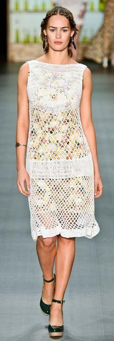 Nica Kessler at Rio de Janeiro Fashion Week. Spring Summer 2013 - Crochet Dress