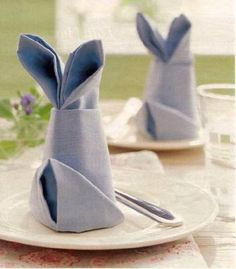 nice bunnies for table decoration