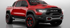 New Ram 1500 Rebel TRX Rendered as the Hellcat of Trucks Rv Truck, Pickup Trucks, Dodge Ram 1500 Hemi, Dodge 300, Dodge Trucks Lifted, Dodge Ram 1500 Accessories, New Ram, Ram Rebel, Trucks