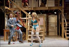 Michael Bekkensen and Liv Rooth in Noises Off