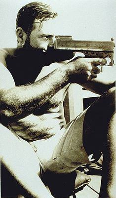 who knows?   | Hemingway | writer | novelist | author | artist | writing | shooting | shot | gun