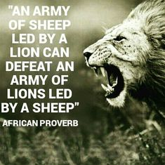 The importance of leadership.striving to be a lion - metaphorically speaking V. - The importance of leadership…striving to be a lion – metaphorically speaking Visit iamroboneill - Leadership Quotes, Success Quotes, Spiritual Leadership, Leader Quotes, Leadership Coaching, Importance Of Leadership, Effective Leadership, Lion Quotes, African Proverb