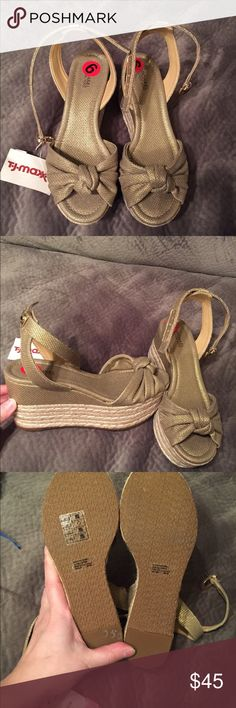 NWT Michael Kors wedge sandals Size 6. Bought at tjmaxx on clearance for $50. Would make a great gift Michael Kors Shoes Wedges