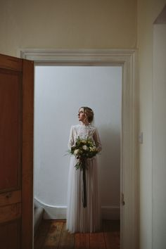 Katya Katya Shehurina Wedding Dress - Katya Katya Shehurina Wedding Dress For A Relaxed London Wedding At Islington Town Hall With A Reception At The Peasant Clerkenwell Images by Kate Gray