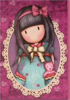 Gorjuss illustration Holly Hobbie, Cute Images, Cute Pictures, Kawaii, Stencil Painting, Copics, Cute Dolls, Cute Illustration, Clipart