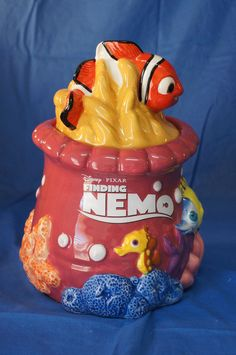 Finding Nemo Tank Gang Reef Ceramic Cookie Jar Figurine Disney Pixar 22754 #WestlandGiftware