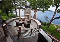 Beautiful modern mountain residence designed by Eskuche Associates and Martha O'hara Interiors located in Minnesota.