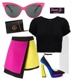 """""""Hilary Bank$ #BeBold"""" by imanijhbc on Polyvore featuring FAUSTO PUGLISI, Jeffrey Campbell, even&odd and Gucci"""