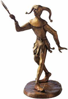 """RobiN: Skulptur """"Till Eulenspiegel"""", Bronze"""