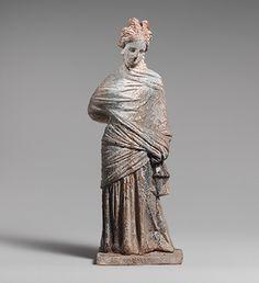 Statuette of a woman [Greek, probably Boeotian] (07.286.2) | Heilbrunn Timeline of Art History | The Metropolitan Museum of Art