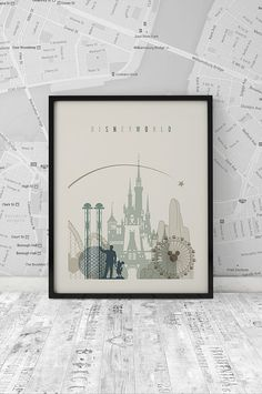 Disney World Printable Wall Art Travel city by ArtFilesVicky