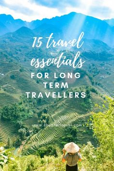 15 Travel Essentials for Long Term Travelers